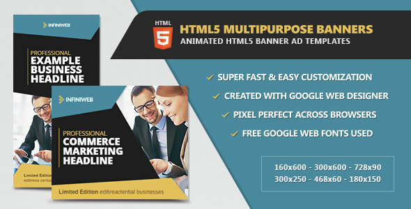 HTML5 Multipurpose Animated Banners