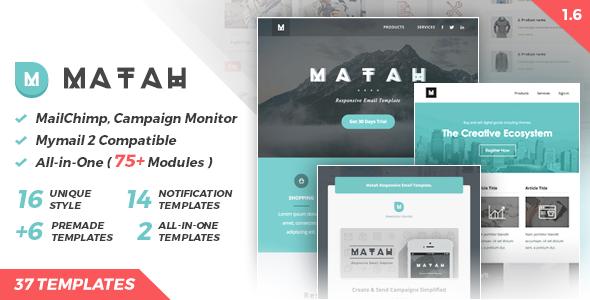 Matah | Responsive Email Set