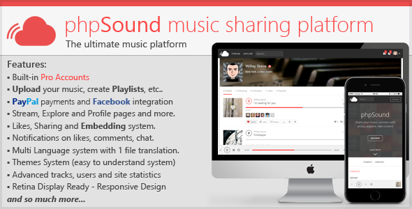 Download phpSound - Music Sharing Platform nulled download