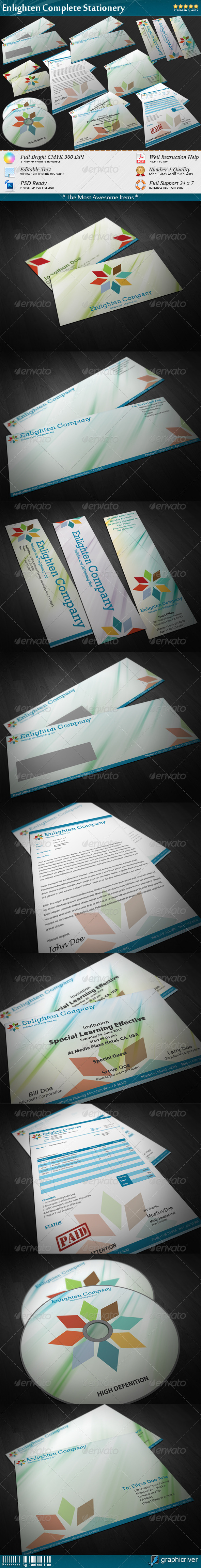 Enlighten Complete Stationery - Stationery Print Templates