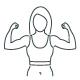Fitness Gym and Healthy Lifestyle Flat Thin Line Icons