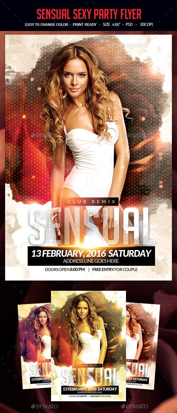 Sensual Sexy Party Flyer