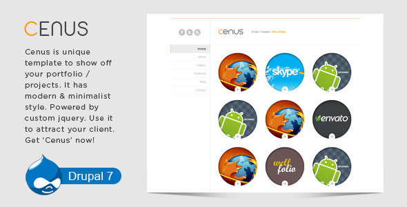 01 preview.  large preview - Spotlight - Clean & Minimal Drupal Theme