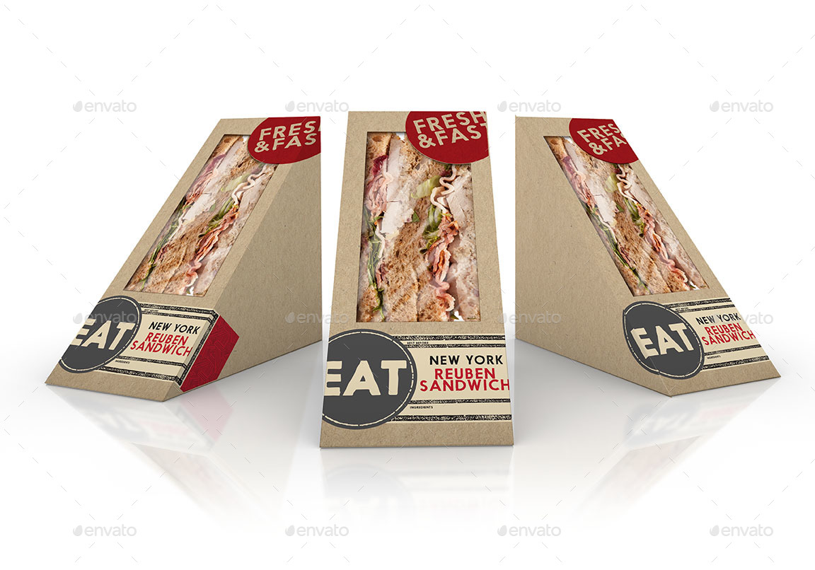 packaging mock up sandwich wedge box and soda paper cup