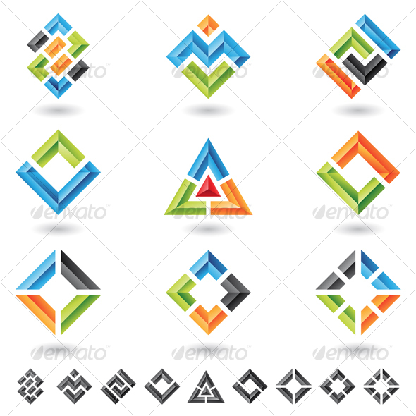 GraphicRiver squares rectangles triangles 57073