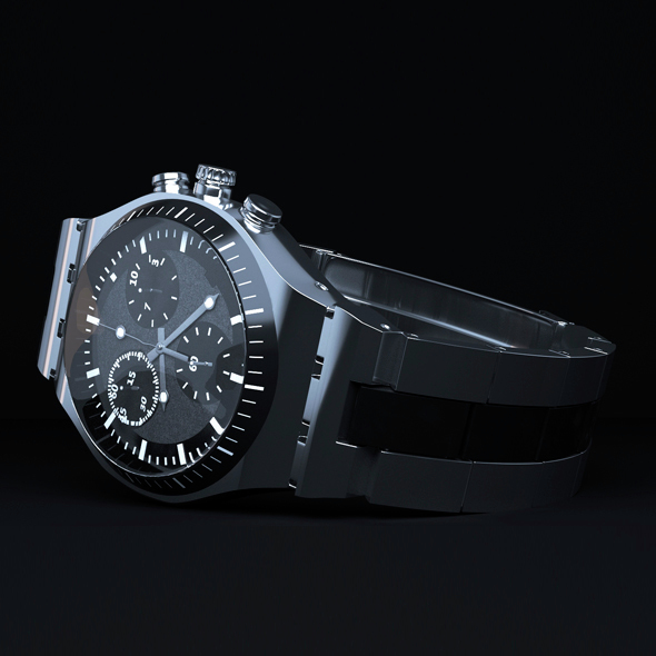 Realistic watch model + scene setup - 3DOcean Item for Sale