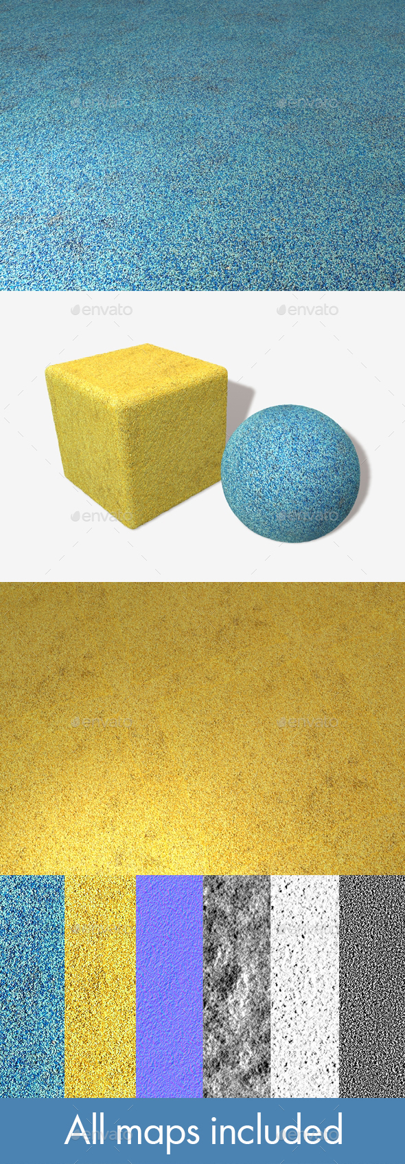 Playground Safety Flooring, Seamless Texture x2 - 3DOcean Item for Sale