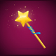 Magic Wand with Shining Star