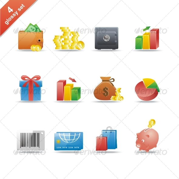 GraphicRiver Glossy icon set 4 58572