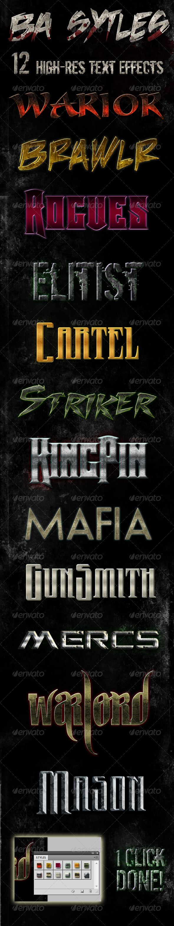 BA Styles Pack - Text Effects Styles