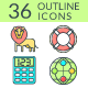 Outline Icons SEO and Development (Color)