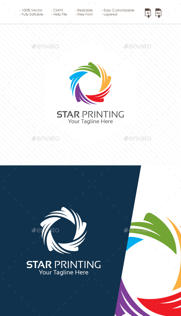 Star Printing Logo