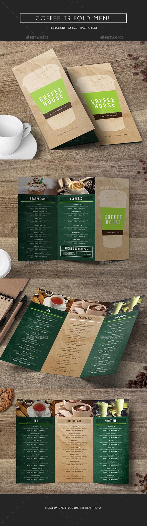 Coffee Trifold Menu