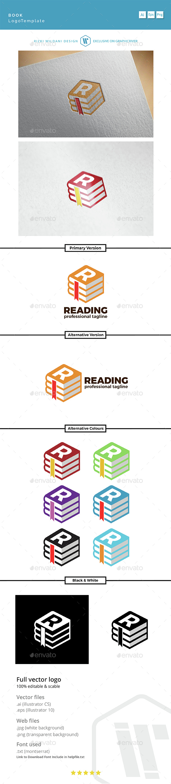 Reading - Logo Book Template