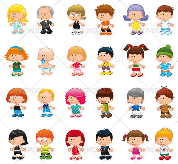 Graphic River People. Vectors -  Characters  People 1482951