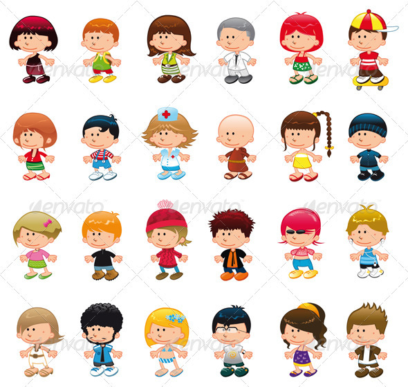 Graphic River Boys and Girls Vectors -  Characters  People 1483066