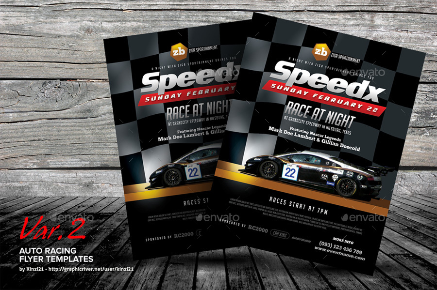 Auto Racing Flyer Templates by kinzi21 – Car Flyer Template