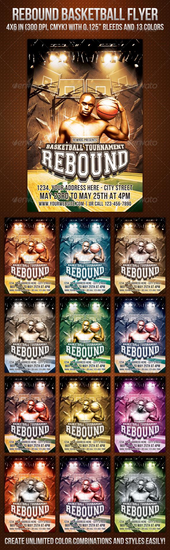GraphicRiver Rebound Basketball Flyer 725122