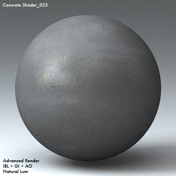Concrete Shader_023 - 3DOcean Item for Sale