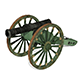 3d Lowpoly Model of Old Artillery Cannon Circa 1800's