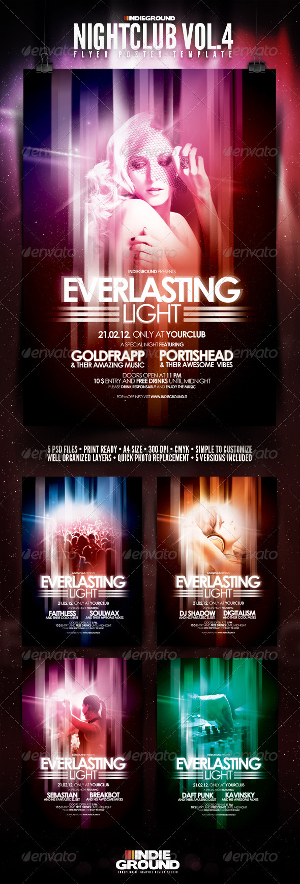 Nightclub Flyer/Poster Vol. 4 - Clubs & Parties Events