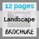Simple Landscape Brochure Indesign Template – 12 Page