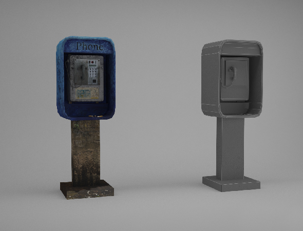 Low poly Payphone - 3DOcean Item for Sale