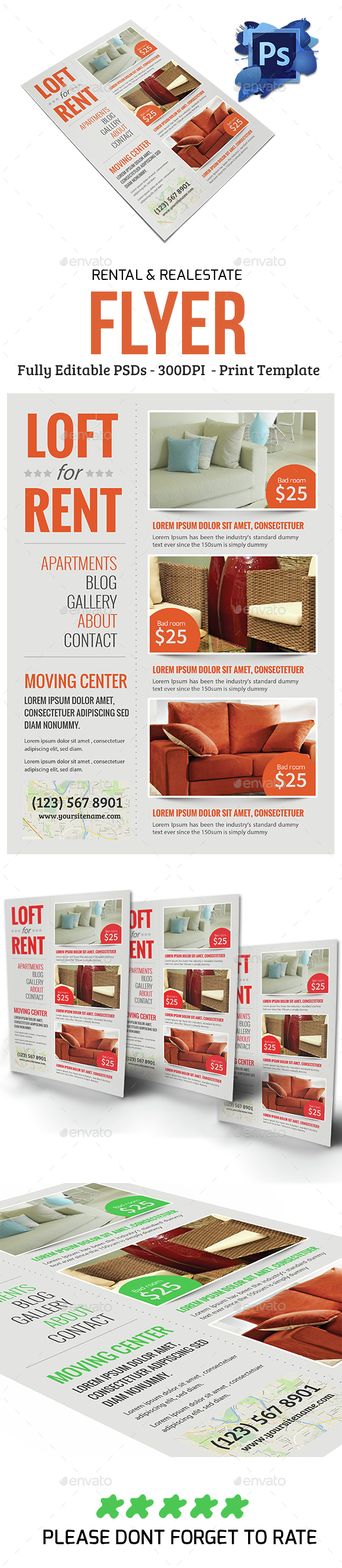 Real estate & Rental Flyer