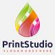 Print Colorful Drop Logo
