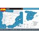 Spain Infographic Map Illustration