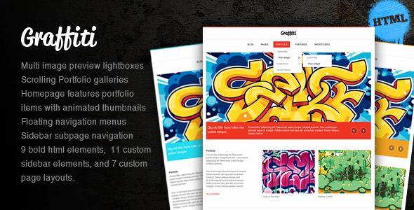 Graffiti HTML Theme