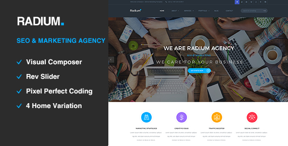 14 - Radium - SEO /Digital Agency WordPress Theme