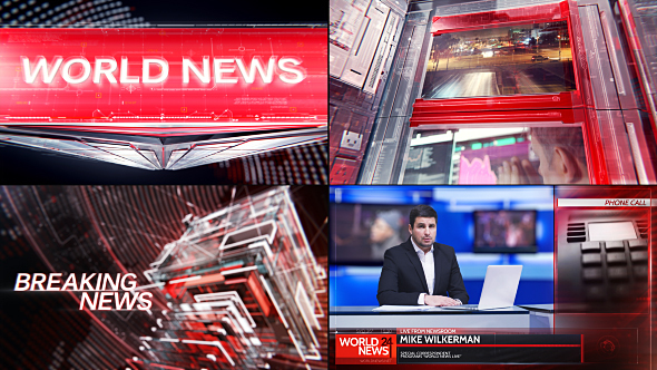 Broadcast Graphic Package – 01 (News) After Effects