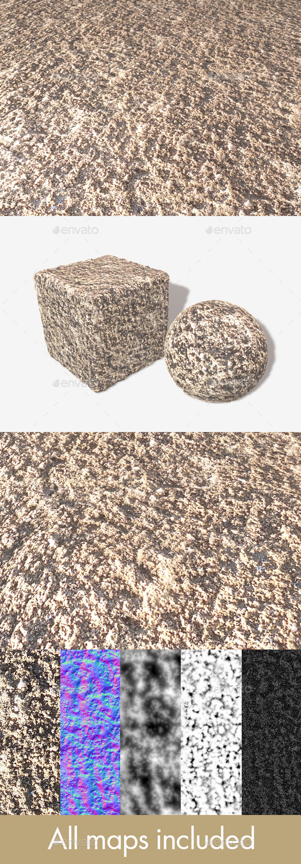 Clumpy Sand Seamless Texture - 3DOcean Item for Sale