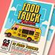 Pop Art Food Truck Flyer/Po-Graphicriver中文最全的素材分享平台