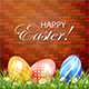 Easter Background with Eggs on Brick Background