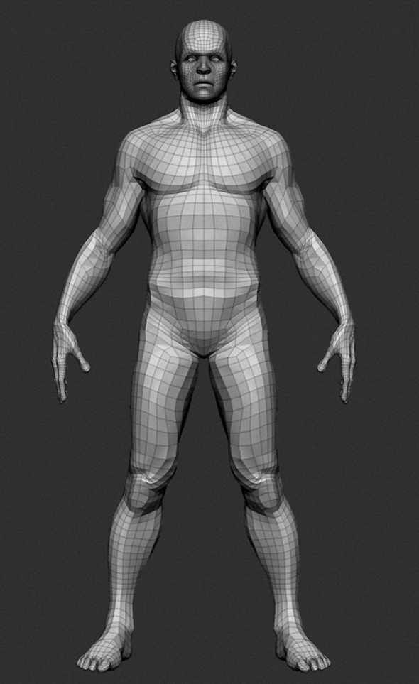 Male Base Mesh - 3DOcean Item for Sale