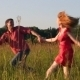 Couple Running in the Field - VideoHive Item for Sale