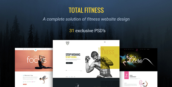 Total Fitness | All in One Fitness PSD Template