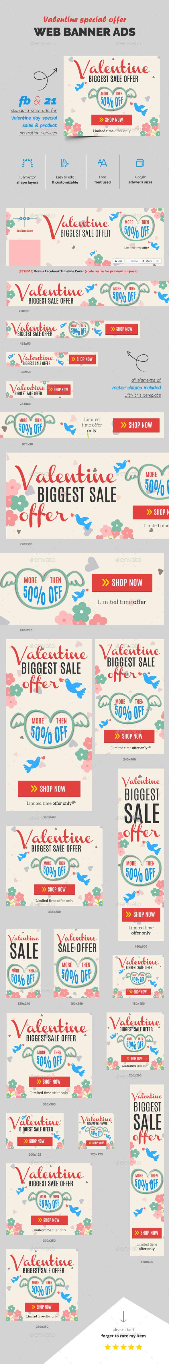 Valentine Sale Web Ads