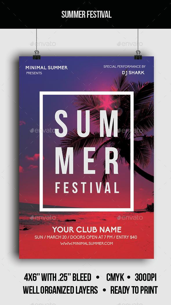 Summer Festival - Flyer