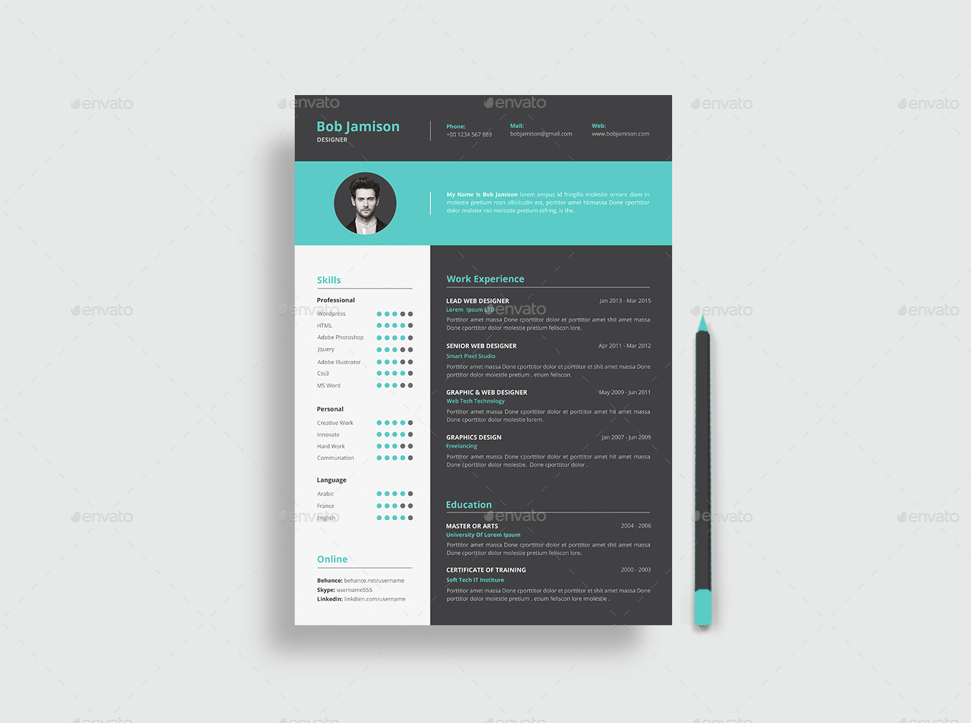 resume by themedevisers