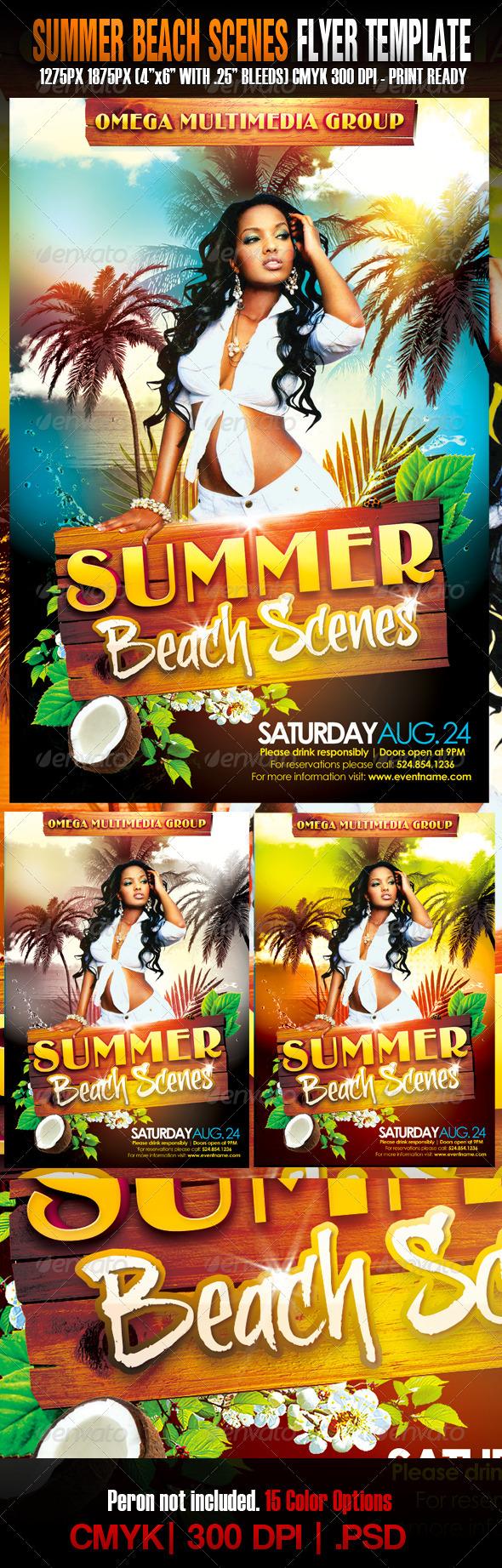 GraphicRiver - The Summer Beach Scenes