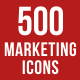 500 Marketing Icons Bundle