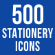 500 Stationery Icons Bundle