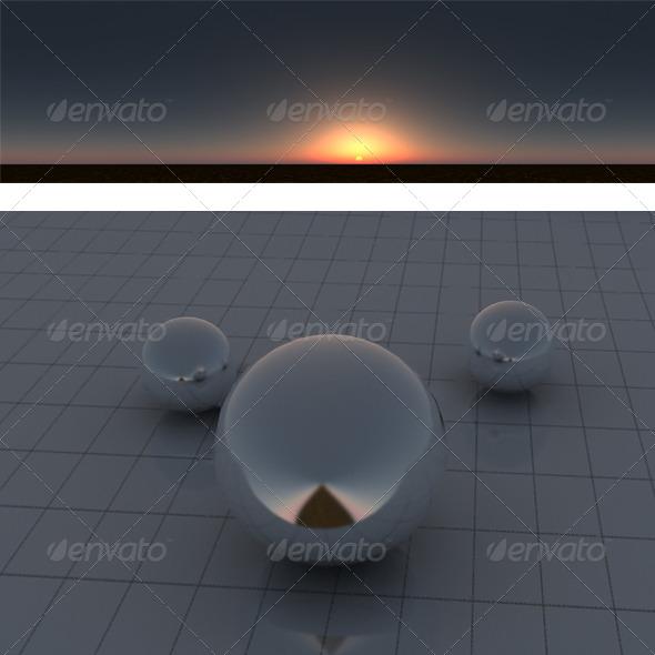 3DOcean Dust sunset 175939