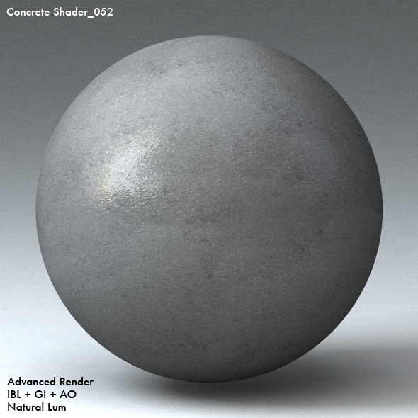 Concrete Shader_052 - 3DOcean Item for Sale