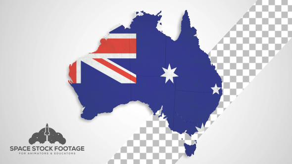 Australia Map States Combine by SpaceStockFootage2 – Map States Australia