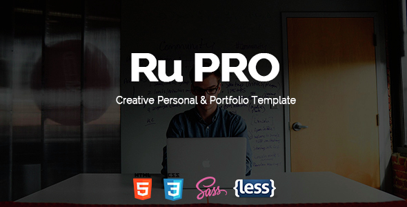 RuPRO - One Page Responsive Resume Template