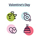 Trends Colorful Valentine icons